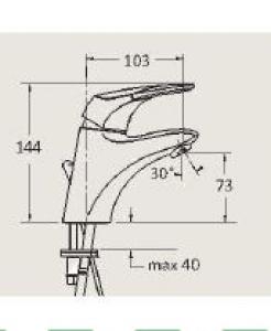 CHIC Tvättställsblandare inkl. lyftventil